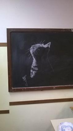 On the blackboard of my classroom