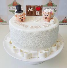 Bolo para Bodas de lã da @bolos_personalizados_laisegama | 7 anos de casamento | Nossas Bodas | Aniversario de casamento