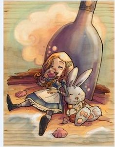 Is that you Alice? Alice in Wonderland. Lewis Carroll, Illustrations, Illustration Art, Alice Madness Returns, Adventures In Wonderland, Through The Looking Glass, Hp Lovecraft, Tim Burton, Fairy Tales