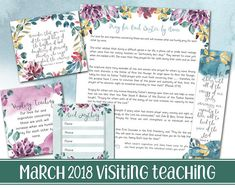 Printable handout for the March 2018 Visiting Teaching Message ----------------------------------------- These printables are great on their own or make awesome magnets, bookmarks, tags, cards, etc. They can be printed at home or at your local photo developing center (Costco is