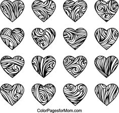 Hearts Coloring Page 19