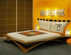 Unique Japanese Bedroom for Your Home. Japanese bedroom design style has unique characteristics. Japanese interior is about how to design the space that blends with nature. Japanese Bed Frame, Japanese Blinds, Japanese Platform Bed, Bed Platform, Japanese Style Bedroom, Bedroom Designs For Couples, Asian Bedroom, Bed Frame Design, Japanese Interior Design