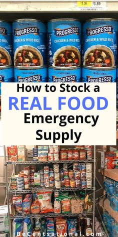Emergency Preparedness Food, Emergency Food Supply, Emergency Supplies, Survival, Grocery Savings Tips, Chicken And Wild Rice, House Hacks, Protein Bars, Food Lists