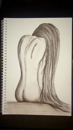 by @janegera_art Fallen Angel pencil drawing, paper, cepia