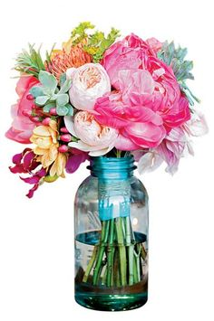 Ella Bella Floral bouquet with peonies, pincushion protea, dahlias and succulents ellabellafloral.blogspot.com  Recommended for You