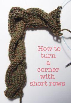 Need a corner in a blanket trim or any other knit? Try it with short rows, as seen on Dayanaknits.com (Tech Projects Tutorials)