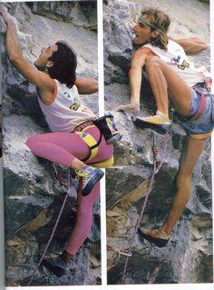 En 1986, à Bardonnecia, l'une des premières compétitions internationales d'escalade : Edlinger passe en dernier... et gagne sans poser le genou...