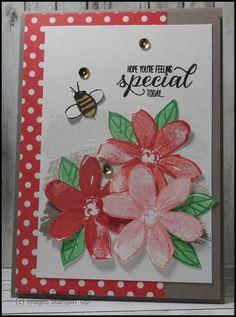 Carolyn King's card; Garden in Bloom stamp set