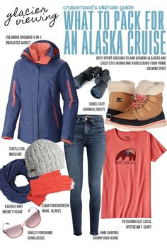 How to Pack for a Cruise to Alaska - cruise mood: Packing considerations for excursions, what to have when you are glacier viewing, and how to layer up! Packing For Alaska, Alaska Cruise Tips, Packing For A Cruise, Alaska Travel, Cruise Travel, Packing Tips For Travel, Cruise Vacation, Alaska Trip, Travel Hacks