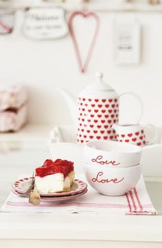 Red and White Cottage / Love Red Cottage, Cottage Style, Be My Valentine, Valentine Treats, High Tea, Chocolate, Food Styling, Tea Time, Peppermint