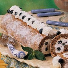 Blueberry Cream Nut Roll Recipe  - this is one of our favorite summer recipes -