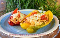 peperoni ripieni di pollo alla pizzaiola-ricetta piatti unici-golosofia