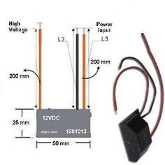 Negative Ion Generator 12V DC High Density Plasma Ionizer Module