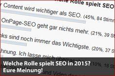 Welche Rolle spielt SEO in 2015? Eure Meinung! - Mehr Infos zum Thema auch unter http://vslink.de/internetmarketing