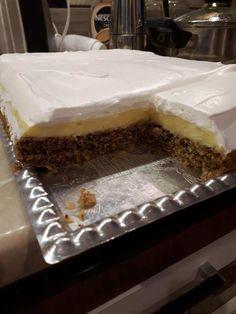 Fantastické ořechové řezy s vanilkovým pudinkem – Hotové již za 30 minut: Příprava jednoduchá a chuť nepopsatelná!   Prima Vanilla Cake, Paleo, Food And Drink, Pudding, Sweets, Cookies, Recipes, Vaj, Dios