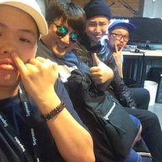 Rap Monster - Bighit posted on twitter 150821: Boys Reunion! @pddogg @supremeboi94 @BTS_twt