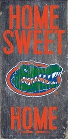 NCAA college fans enjoy your University of Florida Officially Licensed NCAA Tailgating gear. Florida Gators Wood Sign - Home Sweet Home Fla Gators, Florida Gators Football, Auburn Football, Auburn Tigers, Auburn Vs, Alabama Football, American Football, University Of Florida Football, Auburn University