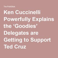 Ken Cuccinelli Powerfully Explains the 'Goodies' Delegates are Getting to Support Ted Cruz