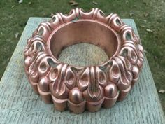 Antique-8-Victorian-Copper-Jelly-Pipe-Mould-Mold-Gothic-Benham-and-Froud-Style