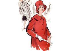 Vintage 1960s Sewing Pattern  Womens Winter Coat by FriskyScissors, $14.00