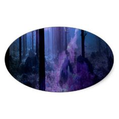 Mystic Night Oval Sticker