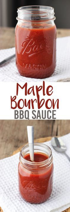 Maple Bourbon BBQ Sauce - an easy homemade BBQ sauce made from kitchen staples. Full of flavor and can be made as mild or as spicy as you like it! mysequinedlife.com
