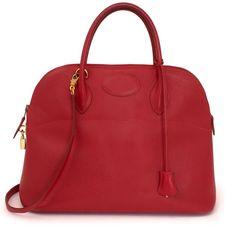 fc2e26d4222a Authentieke Hermes Bolide rood voor de juiste prijs bij LabelLOV vintage  webshop. Hermes Bolide.Veilig online winkelen. Luxe