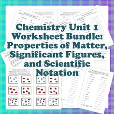 Chemistry Worksheet Bundle!  The first unit of the year is covered in this bundle that has 16 half-page worksheets for many skills and topics.  Half worksheets work really well for my students.  They are able to focus on one type of question at a time.  Each has an average of 4-15 questions. For Grades 9-12.