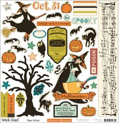 Witch Hazel shape stickers ~ boo!                                                                                                                                                                                 Mais