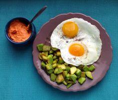 avokado + vejce