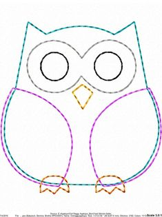 ITH Owl Raggy Applique DIGITAL Embroidery Design You are in the right place about embroidery shoes Here we offer you the most beautiful pictures about the embroidery tree you are looking for. Owl Sewing Patterns, Felt Animal Patterns, Applique Patterns, Stuffed Animal Patterns, Quilt Patterns, Owl Applique, Applique Design, Embroidery Designs, Bee Embroidery