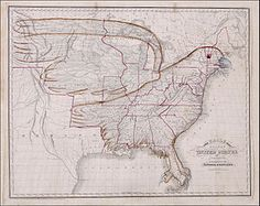 The eagle map of the United States, from 'We'll be losing something far greater than orienteering skills if we dispense with maps altogether.' Photograph: Public domain Better than GPS: a history of cartography in 12 amazing maps Oregon Country, World History Lessons, History Facts, United States Map, Map Globe, Old Maps, Us Map, Red River, American War