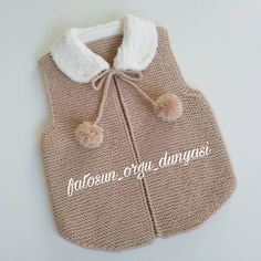 Likes, 173 Comments - F Crochet Girls, Crochet Baby Clothes, Crochet For Kids, Knit Crochet, Knitting For Kids, Baby Knitting Patterns, Knitting Videos, Baby Cardigan, Knit Fashion