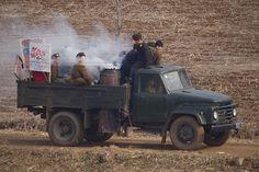 Wood Gasification Powered Truck North Korea - basically wood powered
