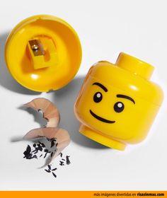 Sacapuntas LEGO.
