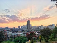 Sun setting below the buildings #RVA #richmond #facebook #fb #scenesindreams #tiltshift