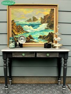 "ART IS BEAUTY: ""Icing on the Cake"" Hall Table Makeover"