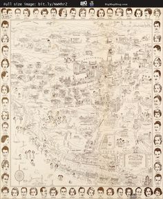 #Hollywood Star #Map – Golden Age #Celebrities (1937) — http://www.bigmapblog.com/2012/hollywood-star-map-golden-age-celebrities-1937/