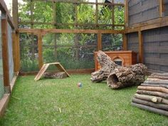An un-used corner of the house can be converted into an enclosure for your house rabbits.