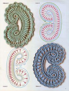 Delicadezas en crochet Gabriela: Patrones gratis : Motivos varios Irlandés