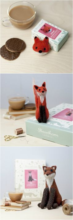 Our Fox Range! Complete Craft Kits from Hawthorn Handmade. Photo Credits: Holly Booth.