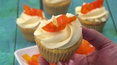 DIY Candied Carrot Cupcake Curls