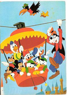 Disneyland Cable Car Postcard by Carlos Goulão    Via Flickr: Postcard 70's