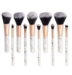 (Advertisement) 10 Piece Brushes Professional Make Up Brush Set with Diamond Shaped Cover Nuevo Diy Makeup Brush, Makeup Kit, Makeup Tools, Beauty Makeup, Affordable Makeup Brushes, Best Makeup Brushes, Best Makeup Products, Brush Kit, No Foundation Makeup