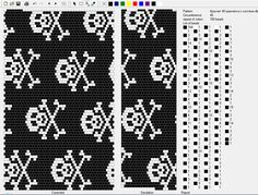 TDM 40 perles Bead Crochet Patterns, Beaded Crochet, Bead Crochet Rope, Beading Patterns, Beaded Skull, Black N White Images, Peyote Stitch, Loom Beading, Jewelry Patterns
