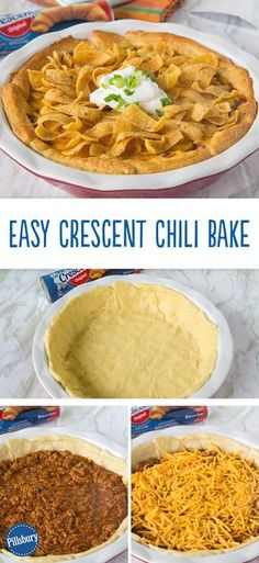 Ring, ring... it's an easy dinner calling! You know what to do next. This Crescent Chili Bake has all the comfort food flavor and your favorite corn chips as a topper. Plus, this recipe can be on your kitchen table in less than 30 minutes.