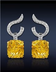 Yellow Diamond Earrings Jacobs & Company - justjune