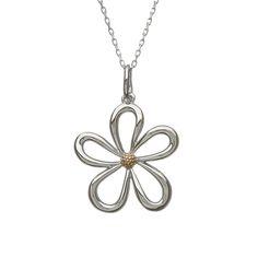 Open Petal pendant #houseoflor #irishjewelry #irishgold #pendant #sterlingsilver #rosegold