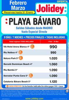 Oferta Febrero-Marzo a Playa Bávaro desde 990€ Tax incl. Salidas Sábados ultimo minuto - http://zocotours.com/oferta-febrero-marzo-a-playa-bavaro-desde-990e-tax-incl-salidas-sabados-ultimo-minuto/