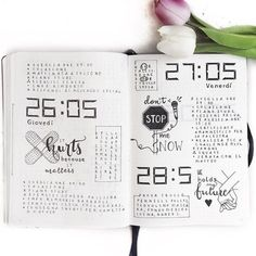 Bullet Journal Daily Logs. Show & Tell with Clarissa @my_journaling_corner
